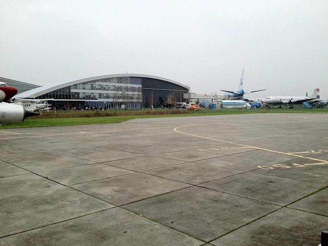 The backside of the Aviodrome